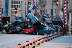 Set of Transformers 3 in Downtown Chicago, IL Stock Image