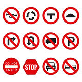 Set of transit signals Royalty Free Stock Images