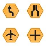 Set of transit signals Royalty Free Stock Photo