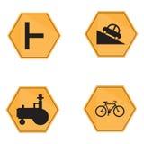Set of transit signals Royalty Free Stock Image