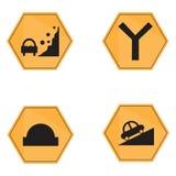 Set of transit signals Stock Images