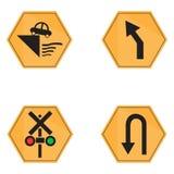 Set of transit signals Stock Photo