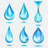 Translucent blue drops Royalty Free Stock Image