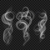 Set of translucent gray smoke. Transparency only in vector file vector illustration