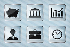 Set of transparency business icons Royalty Free Stock Photo