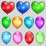 Set of transparent balloons Royalty Free Stock Photos