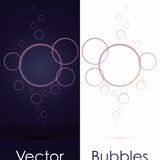 Set of transparent bubbles on black or white Royalty Free Stock Photo