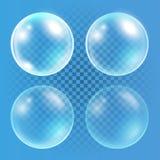 Set of transparent bubbles Stock Image