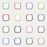 Set of transparent buttons. Nset of transparent glass glossy buttons Stock Photos