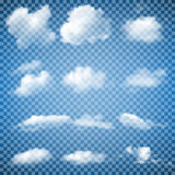 Set of Transparent Clouds Stock Photography