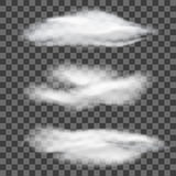 Set of transparent different clouds. Vector illustration. Eps10 vector illustration