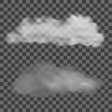 Set of transparent different clouds. Vector illustration. Eps10 stock illustration