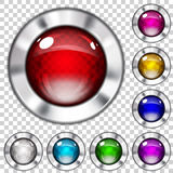 Set of transparent glass buttons Royalty Free Stock Photography