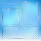 Set of transparent glass frames Stock Images