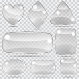 Set of transparent glass shapes Royalty Free Stock Image
