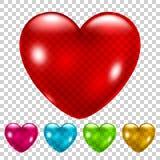 Set of transparent hearts Royalty Free Stock Photo