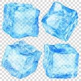 Set of transparent ice cubes Stock Photos
