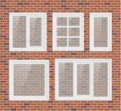 Set of transparent metal plastic windows Stock Image