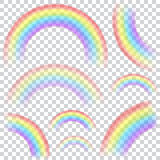 Set of transparent rainbows Royalty Free Stock Image