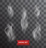 Set of Transparent Smokes on a Plaid Background Royalty Free Stock Photography