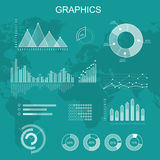 Set of Transparent Vector Graphs and Diagrams Stock Photo