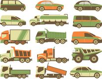 Set Transport Royalty Free Stock Image