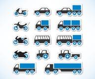 set transport för symbol royaltyfri illustrationer
