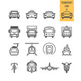 Set of transport icon. Stock Images