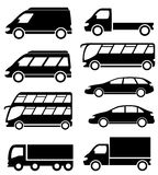 Set transport icon on white background Royalty Free Stock Image