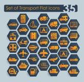 Set of transport icons Stock Image