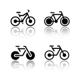 Set of transport icons - bikes Stock Images