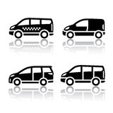 Set of transport icons - Cargo van, Royalty Free Stock Photography