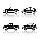Set of transport icons - cars Stock Image