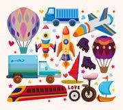 Set of transport icons Royalty Free Stock Image