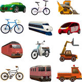 Set of transport icons. Cartoon vector illustration Royalty Free Stock Images