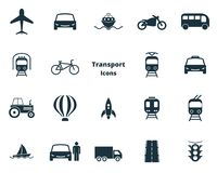Set transport icons collection in flat design. City transport, vihecles, auto for web design, presentations and mobile stock illustration