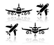 Set of transport icons - Plane Royalty Free Stock Image