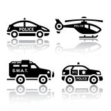 Set of transport icons - Police part 2 Royalty Free Stock Image