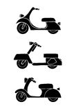 Set of transport icons - scooter and moped Stock Image