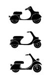 Set of transport icons - scooter and moped Stock Photography
