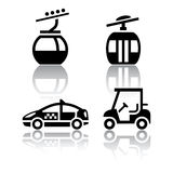 Set of transport icons - sport. Vector Royalty Free Stock Photos