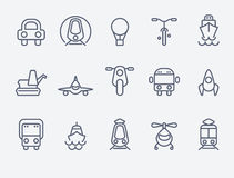 Set of 15 Transport icons Stock Images