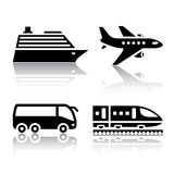 Set of transport icons - tourist transport Stock Images