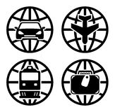 Set transport icons for travel Royalty Free Stock Photo