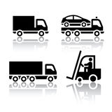 Set of transport icons - truck Stock Photo