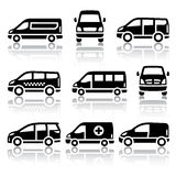 Set of transport icons - Van Royalty Free Stock Photos