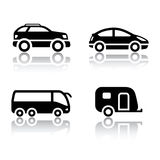 Set of transport icons - vehicles Royalty Free Stock Photos