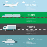 Set transport Infographics ilustracji