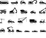 Set of transport silhouette. Stock Photography