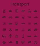Set of transport simple icons Royalty Free Stock Photo